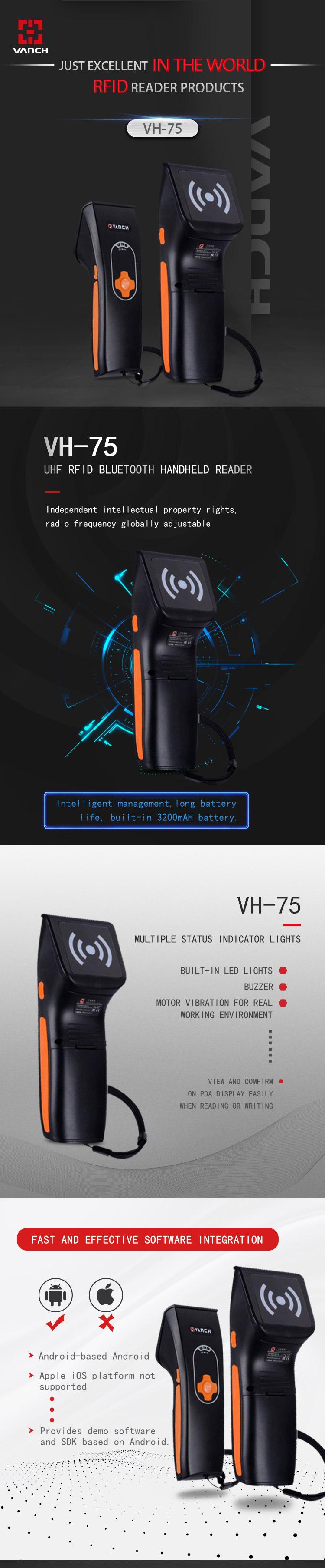 VH-75 Bluetooth RFID Reader-Shenzhen Vanch Intelligent